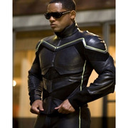 WILL SMITH HANCOCK LEATHER JACKET COSTUME