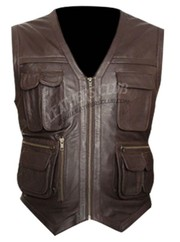 Jurassic World Chris Pratt Leather Vest
